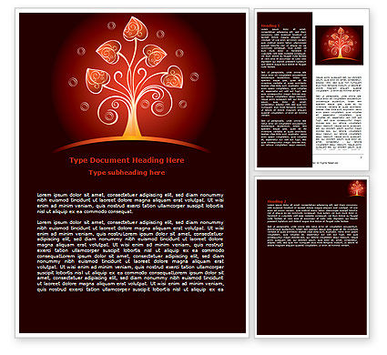 Abstract/Textures: Glowing Tree Word Template #07721