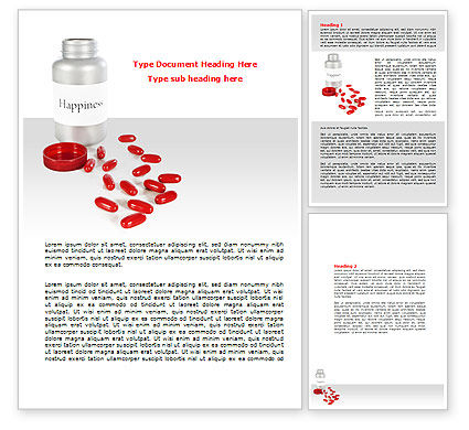 Consulting: Happiness Pills Word Template #07728
