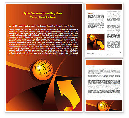 Global: Modelo do Word - desenvolvimento mundial #07732