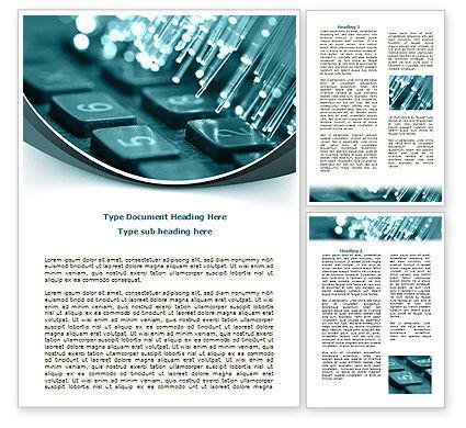 Telecommunication: Illuminated Optic Fiber Word Template #07734