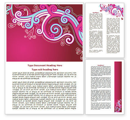 Abstract/Textures: Pink Ornament Word Template #07738