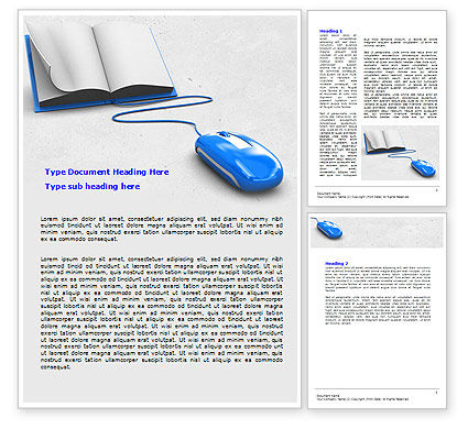 Electronic Book Word Template, 07746, Education & Training — PoweredTemplate.com
