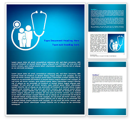 Medical: Family Medicine Word Template #07748
