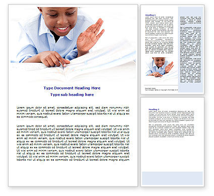 Learning Boy Word Template, 07751, Education & Training — PoweredTemplate.com