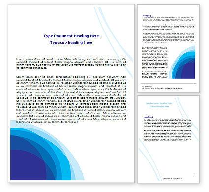 Abstract/Textures: Blue Gradaties Word Template #07756