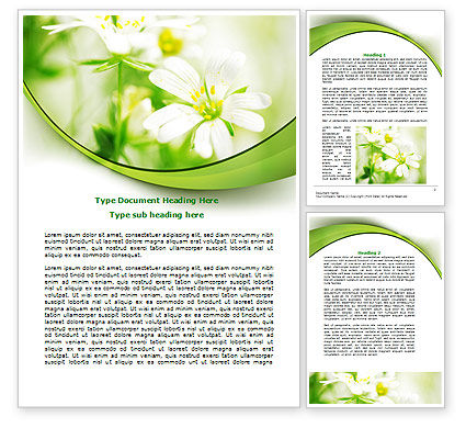 Spring Bloom Word Template, 07764, Nature & Environment — PoweredTemplate.com