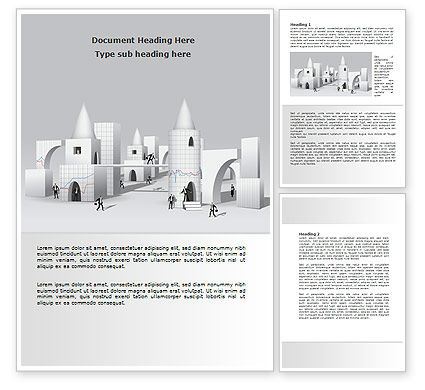 Consulting: Business City Abstract Word Template #07767