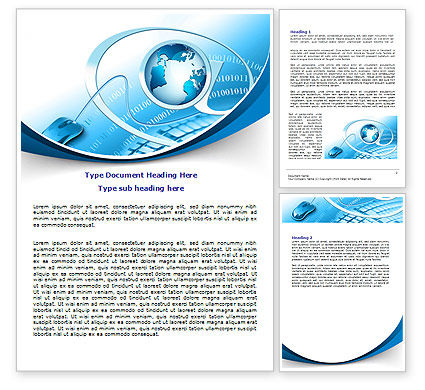 Technology, Science & Computers: Internet Concept Word Template #07768