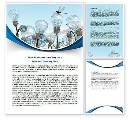 Idea Cultivation Word Template, 07770, Technology, Science & Computers — PoweredTemplate.com