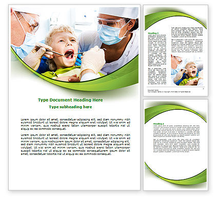 Children's Stomatology Word Template, 07773, Medical — PoweredTemplate.com