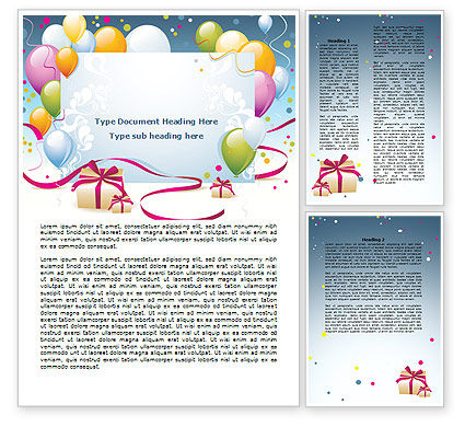 Holiday/Special Occasion: Greeting Card Word Template #07775