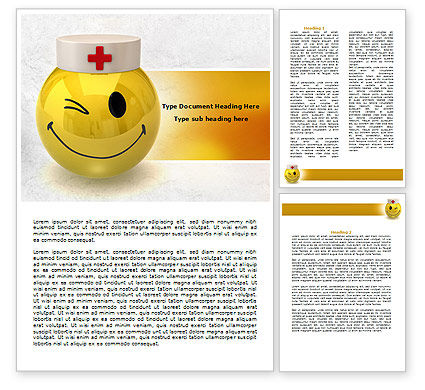 Doctor Emoticon Word Template, 07777, Medical — PoweredTemplate.com