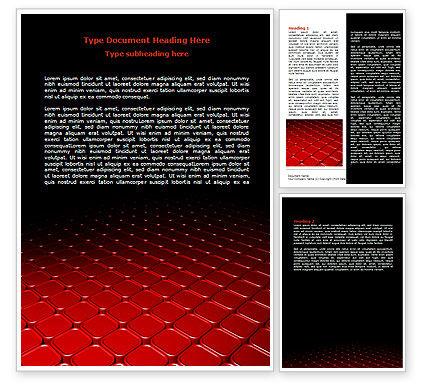 Abstract/Textures: 红色碎片表面Word模板 #07781