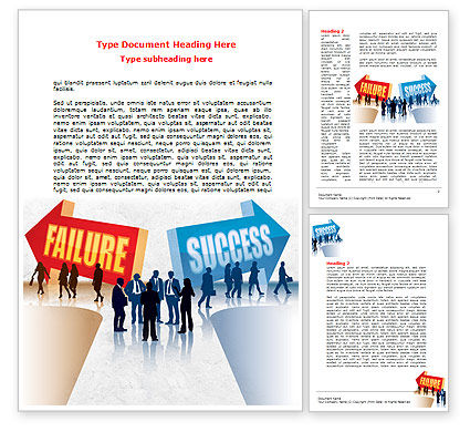 Failure and Success Word Template, 07789, Education & Training — PoweredTemplate.com