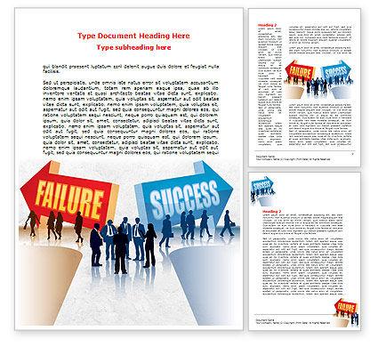 Education & Training: 워드 템플릿 - 실패와 성공 #07789