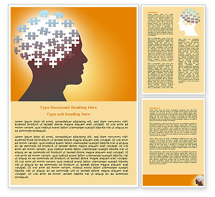 Puzzle Brain Word Template