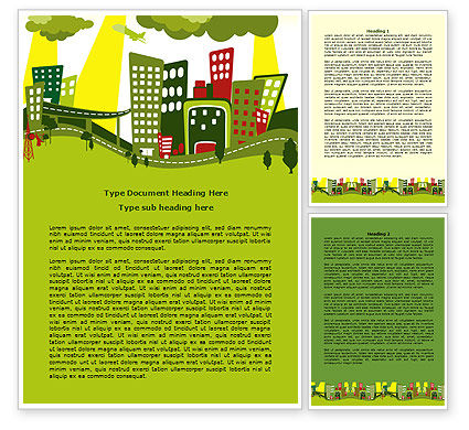 Green Infrastructure Word Template, 07792, Construction — PoweredTemplate.com