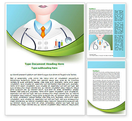 Therapeutic Word Template, 07797, Medical — PoweredTemplate.com