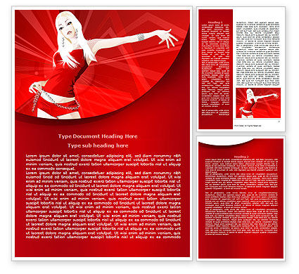 Girl in Red Word Template, 07798, Careers/Industry — PoweredTemplate.com