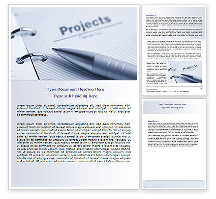 Project Description Word Template, 07802, Business Concepts — PoweredTemplate.com