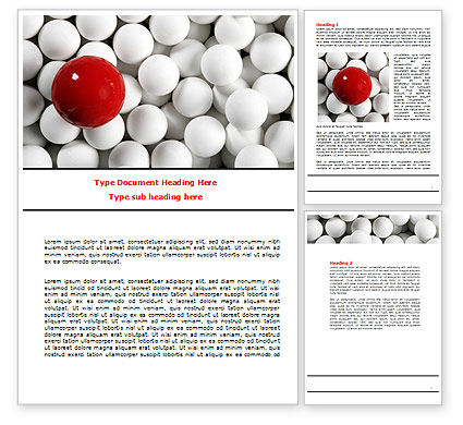 Consulting: Red Ball Of White Word Template #07812