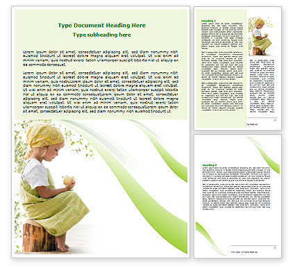 People: Little Girl Word Template #07818