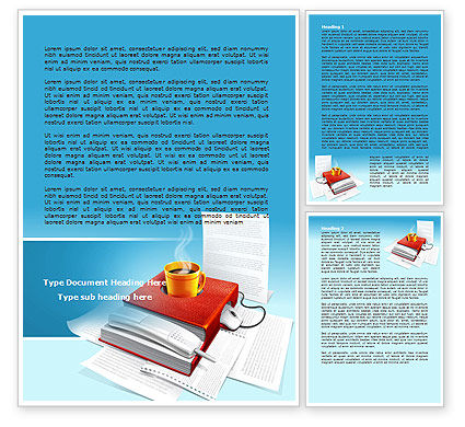 Workplace Word Template, 07820, Business — PoweredTemplate.com