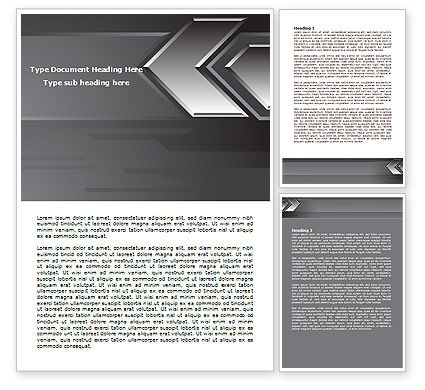 Business Concepts: Metal Arrow Abstract Word Template #07826