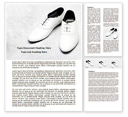 Careers/Industry: White Shoes Word Template #07831