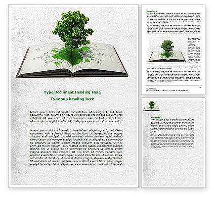 Tree of Knowledge Word Template, 07833, Education & Training — PoweredTemplate.com