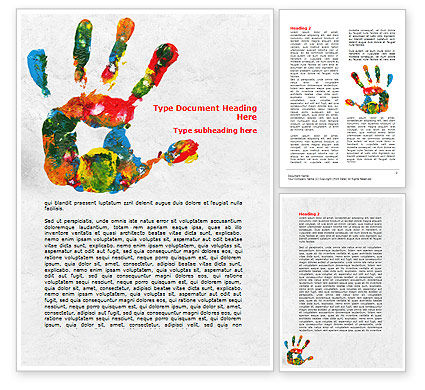 Education & Training: Colorful Hand Print Word Template #07840