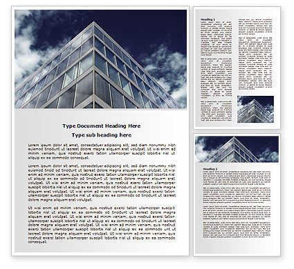Business: Concrete and Glass Word Template #07844