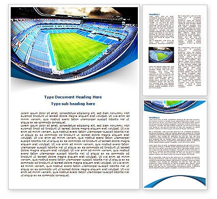 Stadium At Night Word Template, 07846, Careers/Industry — PoweredTemplate.com