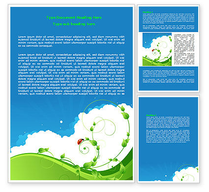 Curly Sprout Word Template, 07854, Nature & Environment — PoweredTemplate.com