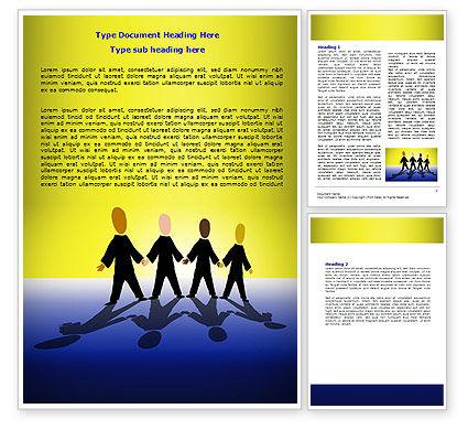 Four Businessmen Word Template, 07858, Business — PoweredTemplate.com