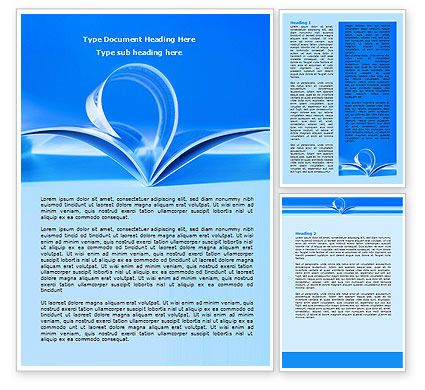 Blue Pages Word Template, 07868, Careers/Industry — PoweredTemplate.com