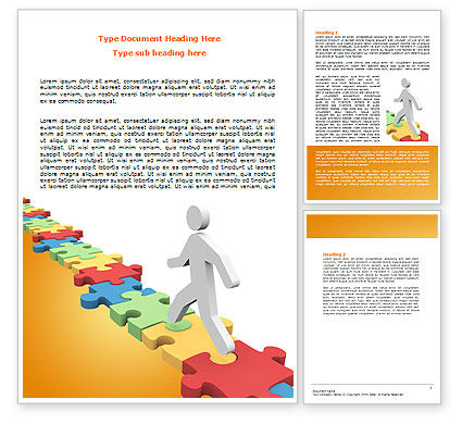 Jigsaw Path Word Template, 07872, Careers/Industry — PoweredTemplate.com