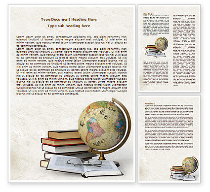 Education & Training: Study Geography Word Template #07874
