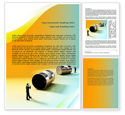 Communication Devices Word Template, 07878, Business — PoweredTemplate.com