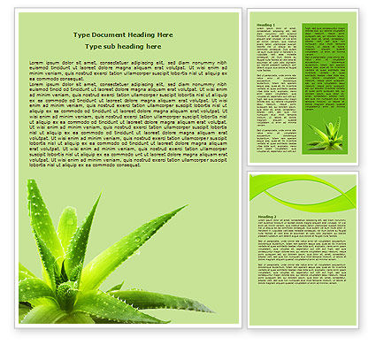 Aloe Word Template, 07880, Nature & Environment — PoweredTemplate.com