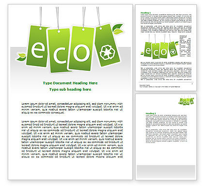 Nature & Environment: Eco Sign Word Template #07883