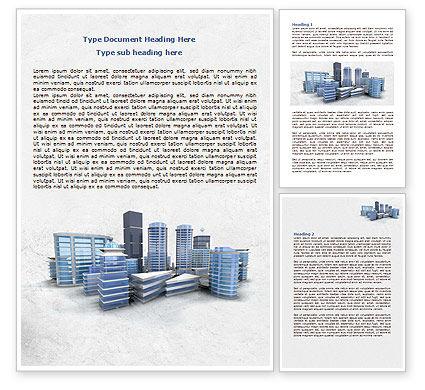 Hi-Tech District Word Template, 07885, Construction — PoweredTemplate.com