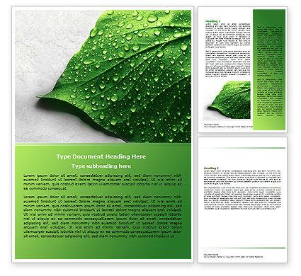 Wet Leaf Word Template
