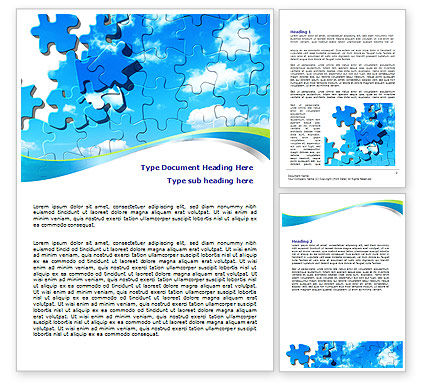 Puzzle Of The Sky Word Template, 07893, Business Concepts — PoweredTemplate.com