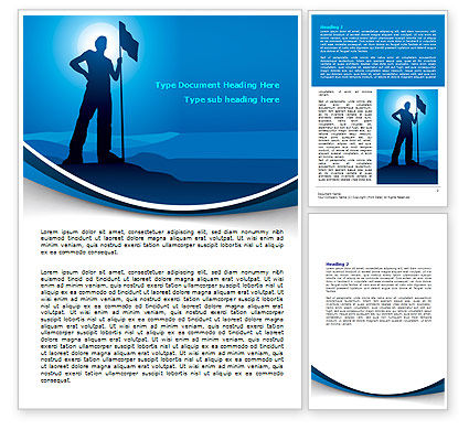 Conqueror Word Template, 07901, Consulting — PoweredTemplate.com