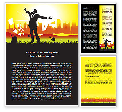 Happy Man Word Template, 07903, Consulting — PoweredTemplate.com