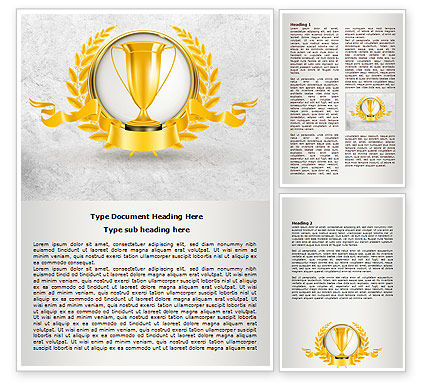 Golden Cup Word Template