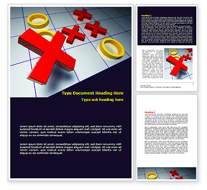 Crosses And Zeros Word Template, 07907, Business Concepts — PoweredTemplate.com