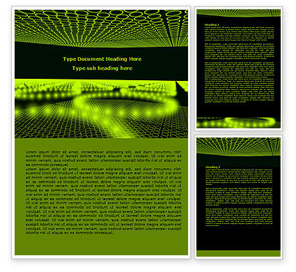 Abstract/Textures: Glowing Green Circles Word Template #07909