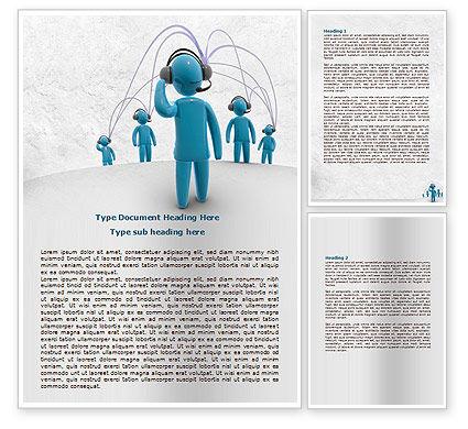 Wireless Community Word Template, 07910, Telecommunication — PoweredTemplate.com